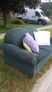 Free loveseat and pillows