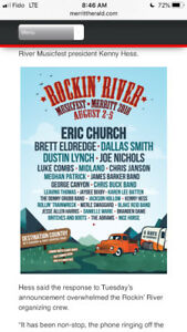 2 General Admission passes to Merritt Mountain Riverfest