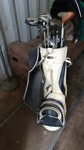 Golf clubs and bag I take a trade also.