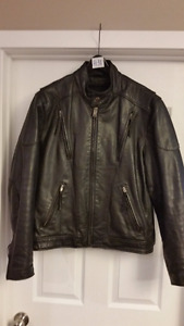 Excellent Black Motorcycle Jacket Men's Size Medium