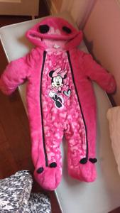 Minnie mouse snowsuit 6-12 months