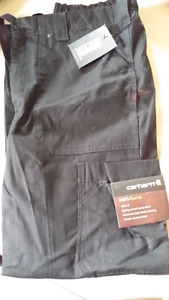 BRAND NEW CARDHART MEN'S RIPSTOP BLK PANT.   SIZE SMALL