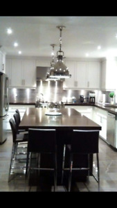 kitchen counter top and island quarts