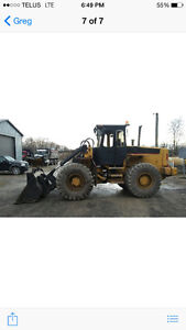Volvo L70 wheel loader with snow plow