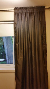 Window Drapes / Curtains in Brown  (Cream drapes free)