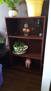 Shelves and cabinet