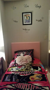 Brand new pink single pillowtop bed