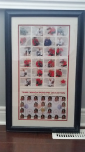 2002 Team Canada Framed Pin Collection
