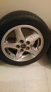 4 (205/55/16) 5x115 Bolt Pattern Chrome Rims with Tires