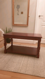 Coffee Table, Solid Wood, Pine finished in a Walnut Colour