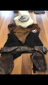 Men's cowboy costume. Size large