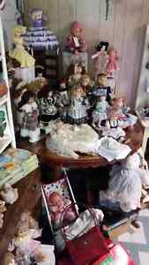 New and old dolls and Associated collectibles for sale