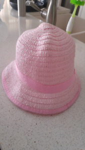 Girls pink toddler summer hat