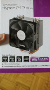 Cooler Master Hyper 212+ CPU Cooler - Used, Boxed