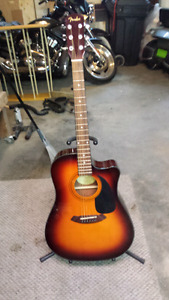 Fender acoustic electric guitar with case