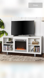 "Depasquale 58"" TV Stand with Fireplace"