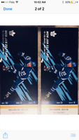 2 GOLD TICKETS, LEAFS vs AVALANCHE
