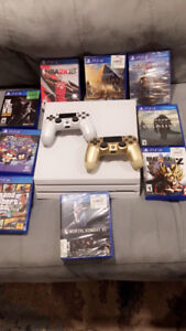 Glacier White Ps4 Pro 1T LIMITED EDITION With games & controller
