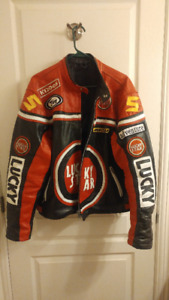 Motorcycle leather jacket for sale