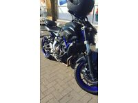 Yamaha MT 07 2014 with Full Akrapovic exhaust mt07 FSH 700cc not 600cc a2