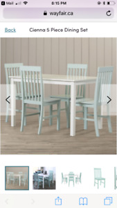 Cienna dining table set mint