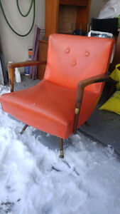 Mid Century Swivel and rocking chair