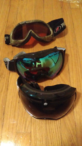 (3) pairs of goggles ...like new