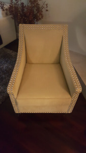 Custom Made Accent Chair Modern Style Olive Green No Stain  .