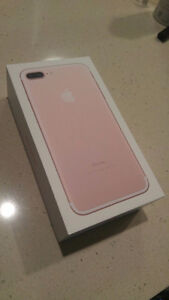 Brand new in box, iPhone 7 PLUS, 256gb, Fido, Rose gold