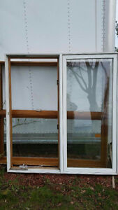 """Two crank windows with frames 5'3 1/4 """" high x 4'11 1/4"""" wide"""