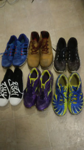 various sneakers and boots for Men