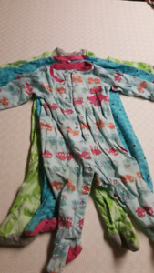 Three pairs of 12m Pekkle pajamas