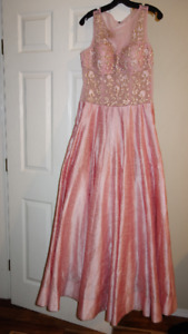 Brand new silk and lace pink gown.