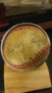 Baby Ruth sighned ball
