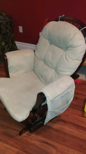 Glider chair with footstool