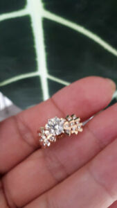 New Certified 1.00 Diamond Engagement 14K YELLOW GOLD Ring