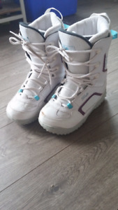 Women's Size 8 White/Purple Firefly Snowboard Boots for Sale