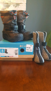 Size 8 Boys Columbia Boots