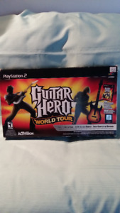 GUITAR HÉRO WORLD  OF TOUR  PS2  COMPLET $68.00