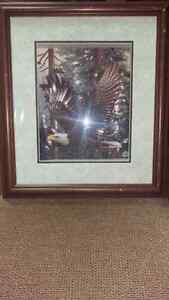 Stunning Eagle Paper Tole Professionally Framed
