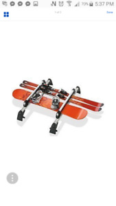 Locking Roof Rack with Ski/Snowboard Attachment For VW Jetta