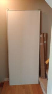 "3 Panel Frameless Sliding Closet Doors. Very good condition! 96"""