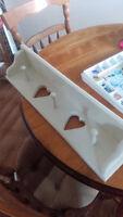 Coat/towel rack & pet food tray