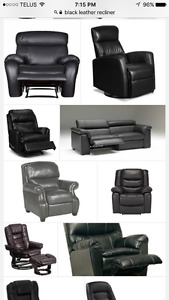 LEATHER Recliner / Elran / Lazy Boy / Chair