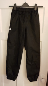 MEC rain/snow pant in black - unlined.  Youth/kids size 12