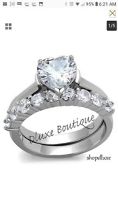 BEAUTIFUL BRAND NEW STAINLESS STEEL WEDDING/ENGAGEMENT RINGS
