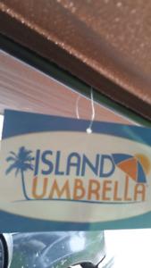 "Brand new 9ft Lanai ""half"" beach umbrella"