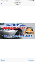 we pay cash for damaged car salvage car free tow 7802220825