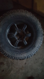 4 17inch Aftermarket chevy 6 lug with bfg tires