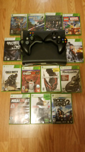 X-box 360 with the games